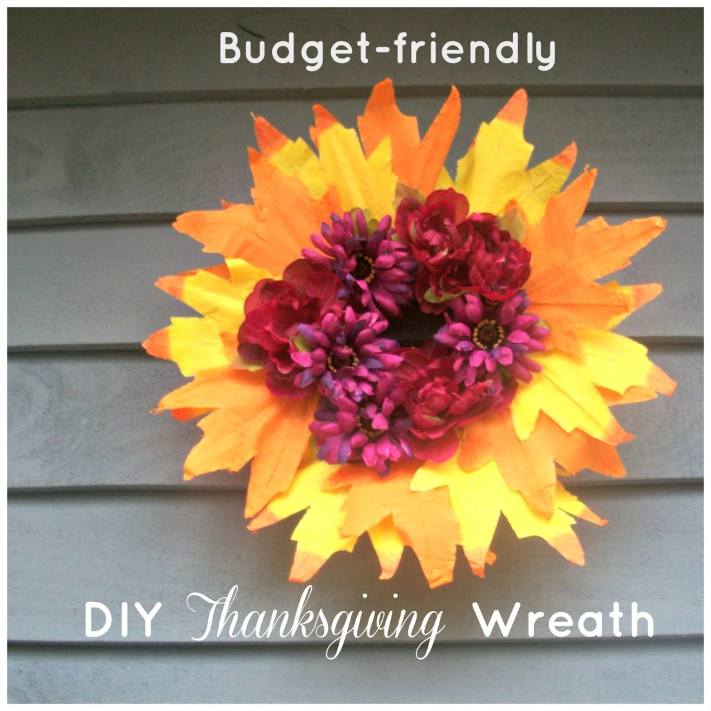 DIY Thanksgiving Wreath on a Budget @destinyblogger @Embracing Destiny