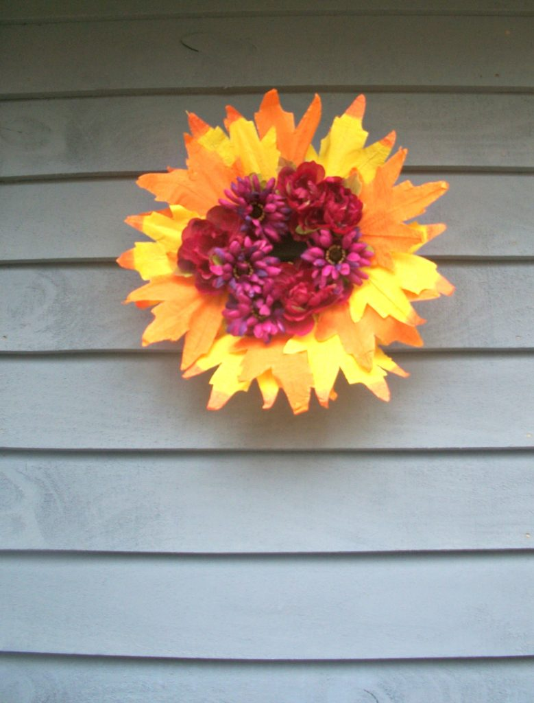 DIY Thanksgiving Wreath on a budget