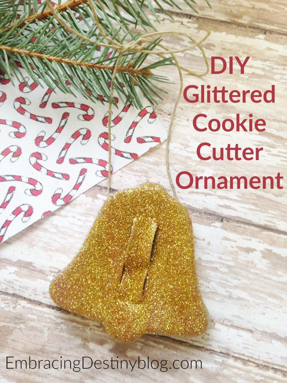 Easy DIY Glittered Cookie Cutter Ornament