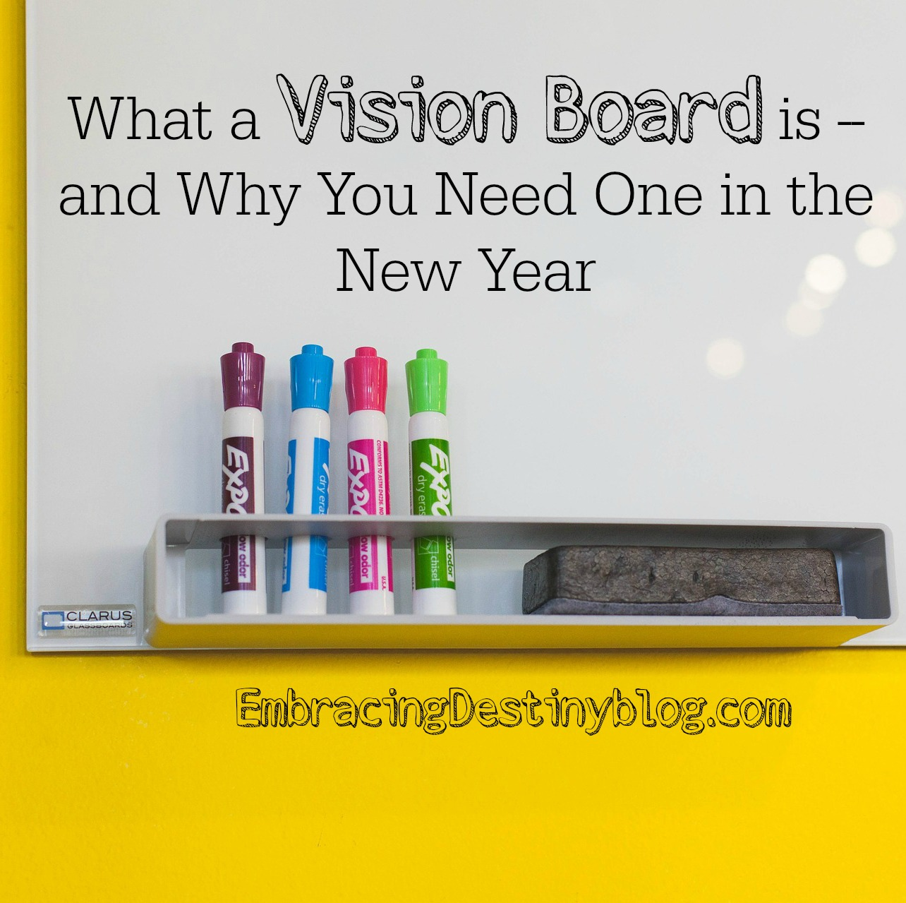 What a Vision Board is -- and why you need one in the new year. Visualize your goals and plans with this display technique. Great motivation all year long! embracingdestinyblog.com