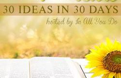 My guest post on teaching the Bible to kids with special needs at 30 Days of Bible series at In All You Do.