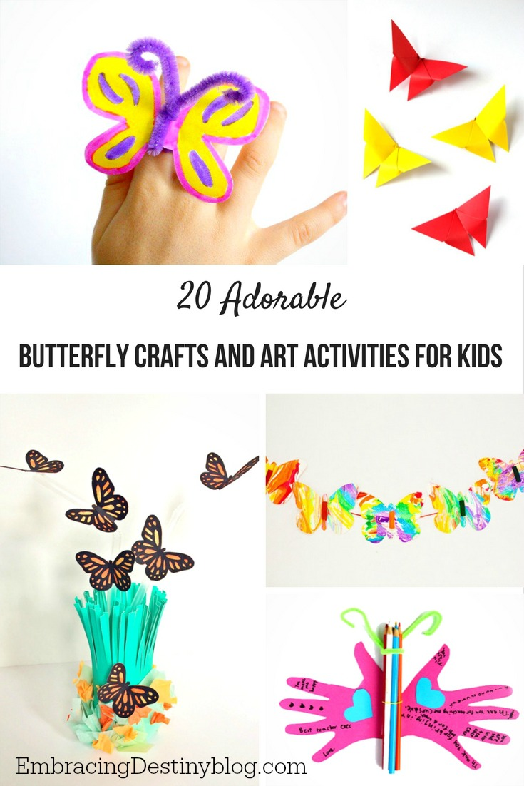 20 Adorable Butterfly Crafts and Art Activities for Kids
